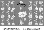 vector graphic plant set of... | Shutterstock .eps vector #1315383635