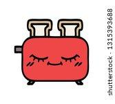 cute cartoon of a of a toaster | Shutterstock .eps vector #1315393688