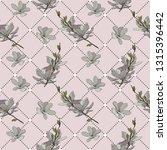 magnolia flower seamless | Shutterstock .eps vector #1315396442