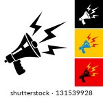 set illustration of megaphone... | Shutterstock .eps vector #131539928