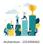 vector illustration  people run ... | Shutterstock .eps vector #1315406462