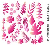 big set of flowers and herbs.... | Shutterstock .eps vector #1315411838