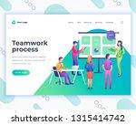 landing page template teamwork... | Shutterstock .eps vector #1315414742