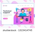 landing page template technical ... | Shutterstock .eps vector #1315414745