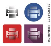 dotted icon of printer in four... | Shutterstock . vector #1315426592