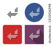 dotted icon of left... | Shutterstock . vector #1315426598