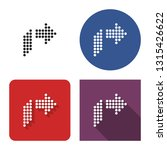 dotted icon of right... | Shutterstock . vector #1315426622