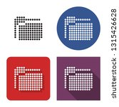 dotted icon of folder in four... | Shutterstock . vector #1315426628