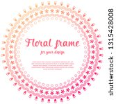 minimal cute floral frame... | Shutterstock .eps vector #1315428008