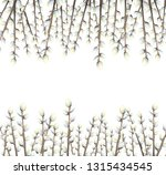 white background with willow... | Shutterstock .eps vector #1315434545