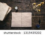 open blank page book  old... | Shutterstock . vector #1315435202