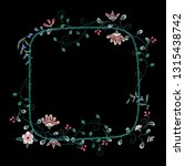 embroidery floral frame with... | Shutterstock .eps vector #1315438742