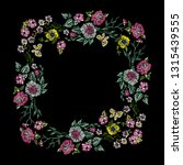 embroidery floral frame with... | Shutterstock .eps vector #1315439555