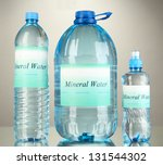 different water bottles with...   Shutterstock . vector #131544302