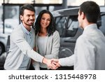young couple grateful sales... | Shutterstock . vector #1315448978