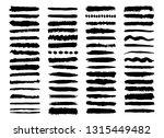 set of ink black brush strokes... | Shutterstock .eps vector #1315449482