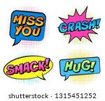 retro colorful comic speech... | Shutterstock .eps vector #1315451252