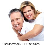 happy senior couple. isolated... | Shutterstock . vector #131545826