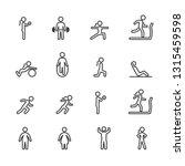 vector set of fitness people... | Shutterstock .eps vector #1315459598