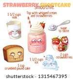 strawberry shortcake smoothie... | Shutterstock .eps vector #1315467395