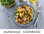 penne pasta with tuna chunks ... | Shutterstock . vector #1315486532
