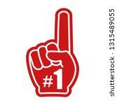 number 1  one  fan hand glove... | Shutterstock .eps vector #1315489055