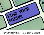 handwriting text find your... | Shutterstock . vector #1315492505