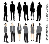 set of silhouettes of men and... | Shutterstock .eps vector #1315493408
