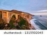 bixby creek bridge on highway 1 ... | Shutterstock . vector #1315502045