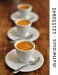Three Cups Of Italian Coffee...