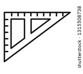angle ruler icon. outline angle ... | Shutterstock .eps vector #1315508738