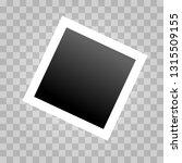 square realistic polaroid frame ... | Shutterstock .eps vector #1315509155