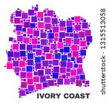 mosaic ivory coast map isolated ...   Shutterstock .eps vector #1315513058