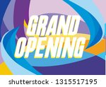 grand opening  beautiful... | Shutterstock .eps vector #1315517195