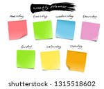 weekly planner with memory... | Shutterstock .eps vector #1315518602