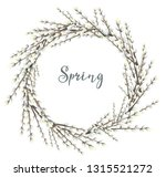 spring wreath with flowers of... | Shutterstock .eps vector #1315521272