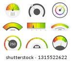 speedometer icons. credit score ... | Shutterstock .eps vector #1315522622