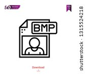 outline bmp file  icon isolated ...