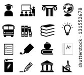 education and schools icon set | Shutterstock .eps vector #131552678