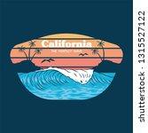 big ocean wave on california... | Shutterstock .eps vector #1315527122