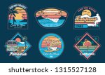 set vintage emblems graphic... | Shutterstock .eps vector #1315527128