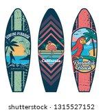 set surfboard print design for... | Shutterstock .eps vector #1315527152