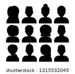 set of avatar  black... | Shutterstock .eps vector #1315532045