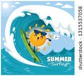 vintage summer poster design...   Shutterstock .eps vector #1315537058