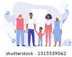 happy young african american... | Shutterstock .eps vector #1315539062