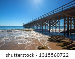 fishing pier and boat hoist at... | Shutterstock . vector #1315560722