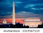 washington dc skyline including ... | Shutterstock . vector #1315567115