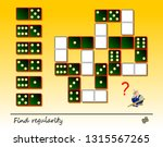 logic puzzle game for children... | Shutterstock .eps vector #1315567265