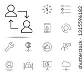 replacement of employee icon.... | Shutterstock . vector #1315596182