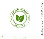 natural leaves stamp icon... | Shutterstock .eps vector #1315617755
